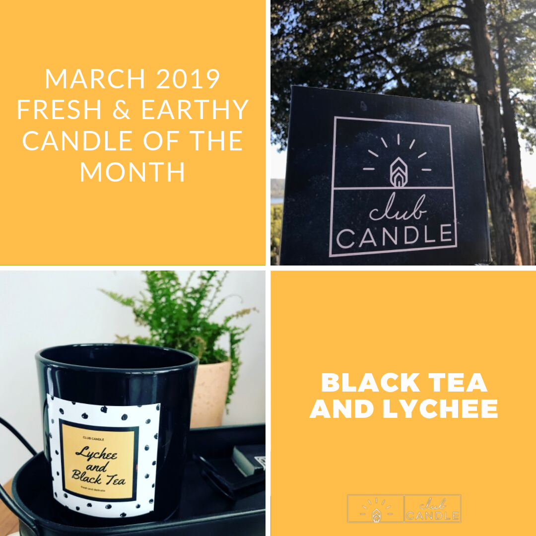 Black Tea and Lychee Candle