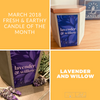 Lavender and Willow Candle