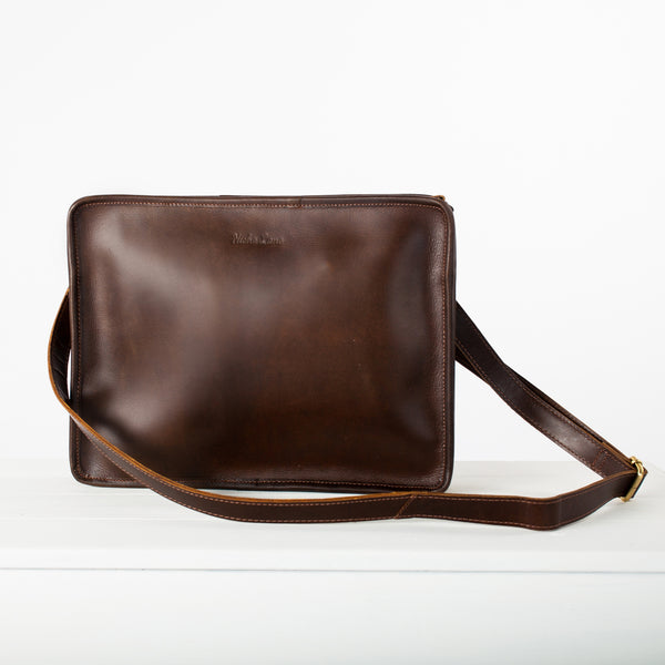 Buffalo Leather iPad bag with cross body strap