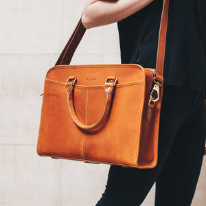 Leather Briefcase Laptop Bag for women