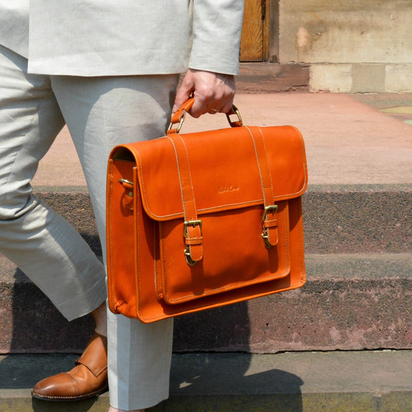 British Leather briefcase tan