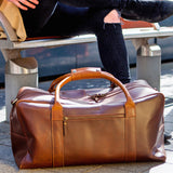 Buffalo Leather Weekender for men Dark Brown