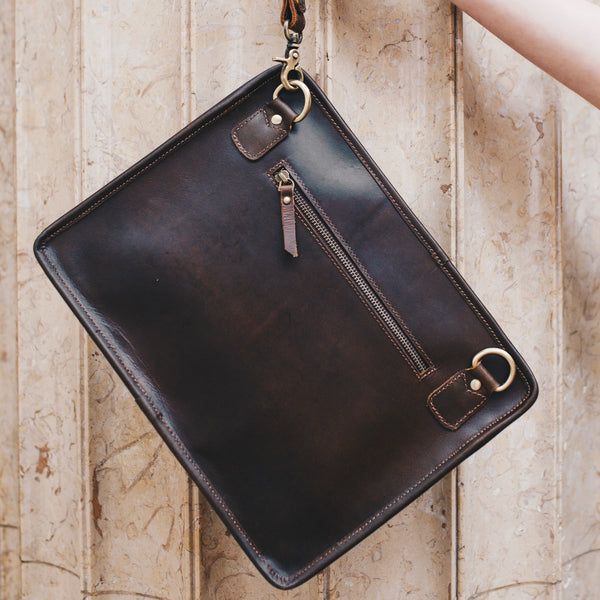 Leather Tablet Bag for men and women