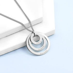 Personalised Rings of Love Necklace