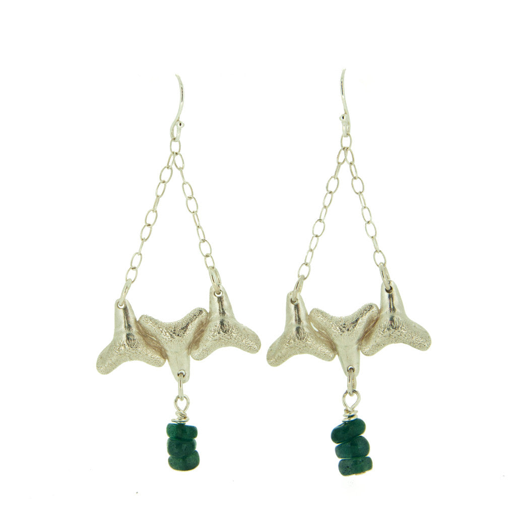 Shark Teeth Drops With Aventurine