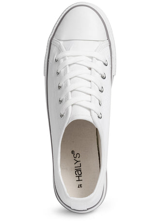 Pia Offwhite Lace-up Plimsolls