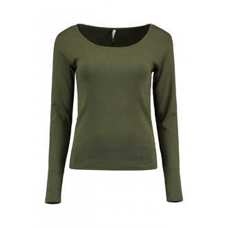 Donna Khaki Pure Cotton Top