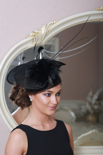 Kathy Black Fascinator - LadyVB   s.r.o - 2