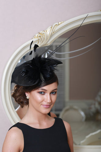 Kathy Black Fascinator - LadyVB   s.r.o - 1