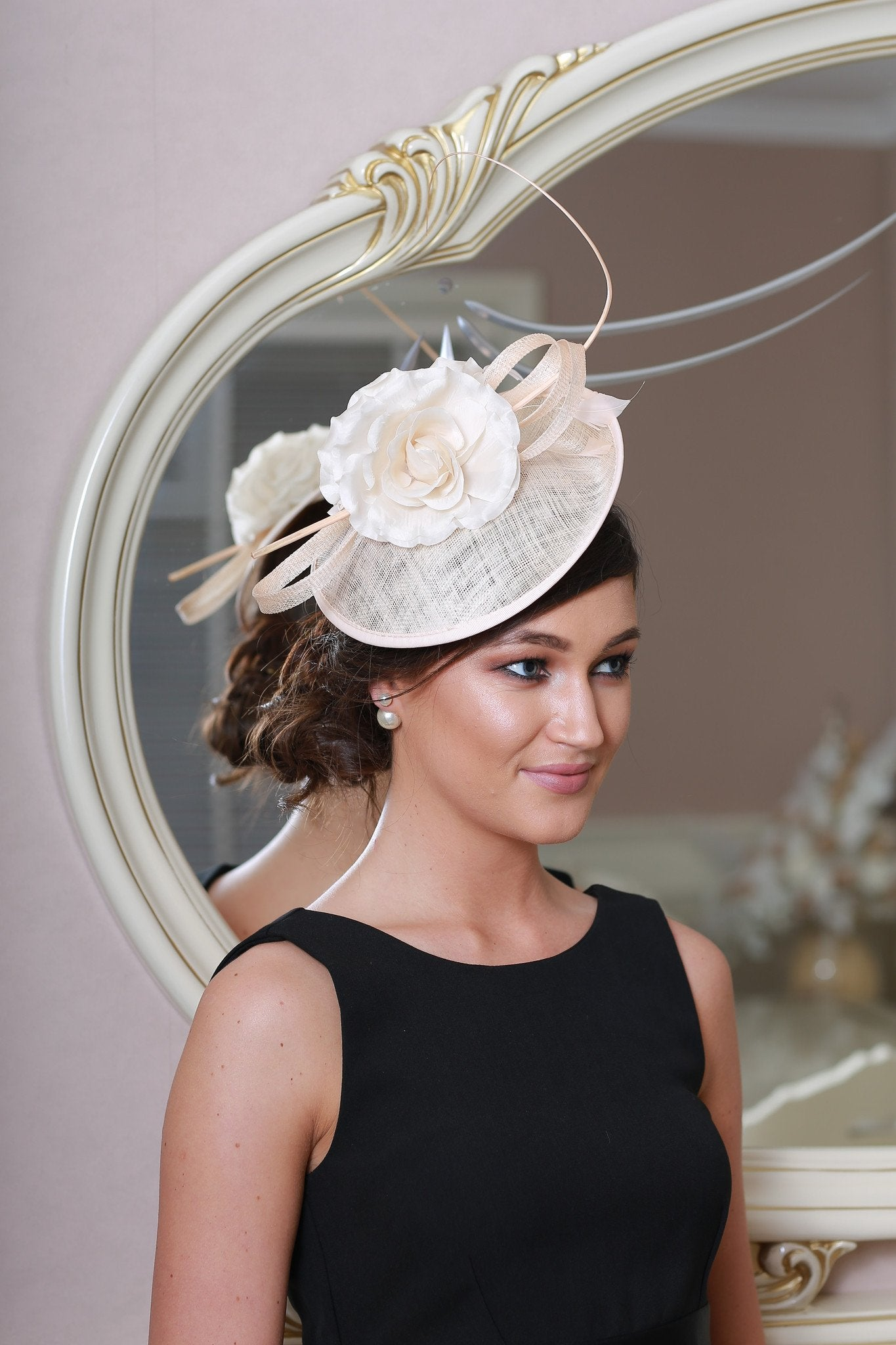 Emma Blush Fascinator - LadyVB   s.r.o - 2