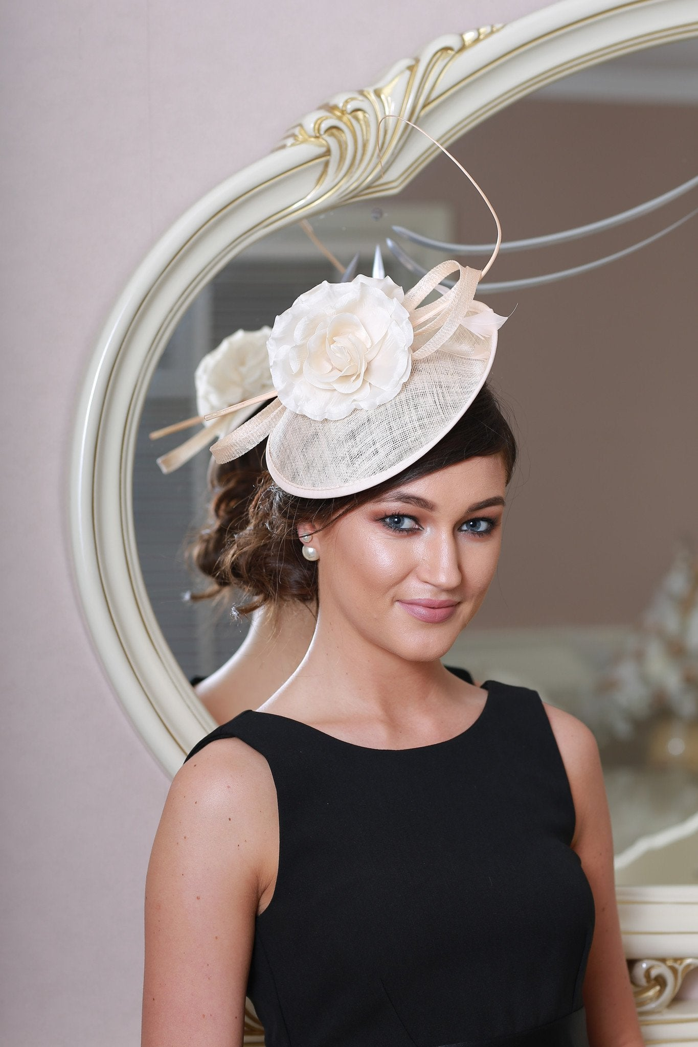 Emma Blush Fascinator - LadyVB   s.r.o - 1