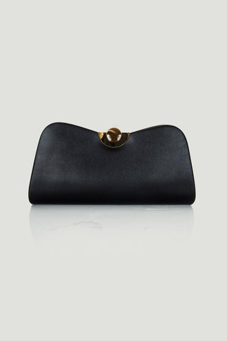 Mary Black Bow Shaped Clutch