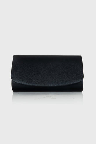 Meggy Black Envelope Clutch