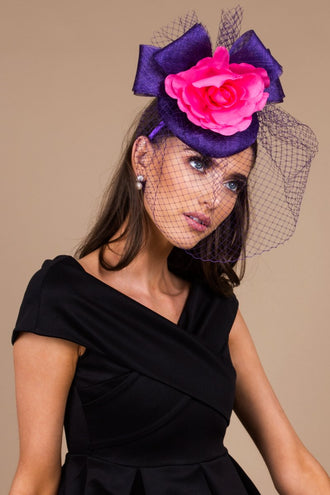 Taylor Purple And Pink Fascinator