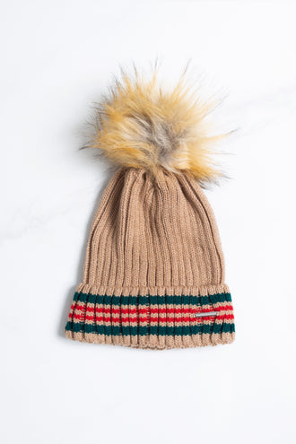 Cato Camel Knit Hat