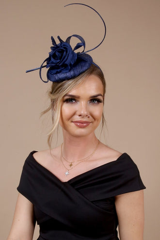 Willow Navy Fascinator