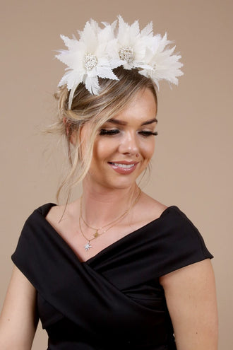 Catherine Ivory Floral Hairband