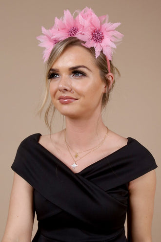 Catherine Pink Floral Hairband