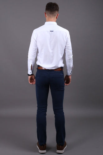 Lolland Long Sleeve Oxford White Shirt