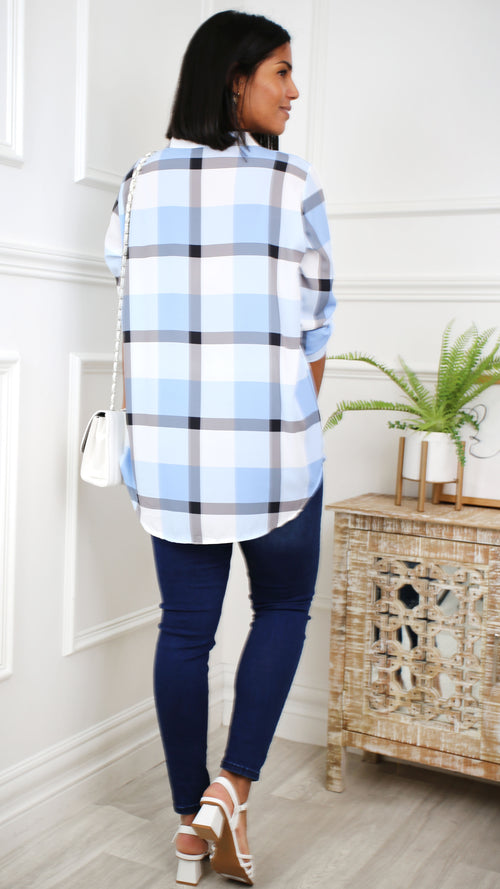 Ruby Dark Blue Side Stripe Skinny Jeans