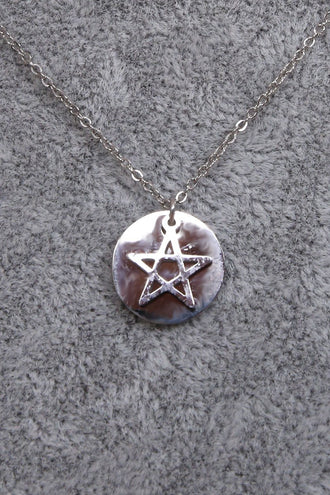 Pippa Silver Plated Star and Cirkle Pendant