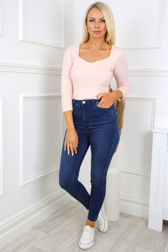 Noa Rose Sweetheart Neck Top