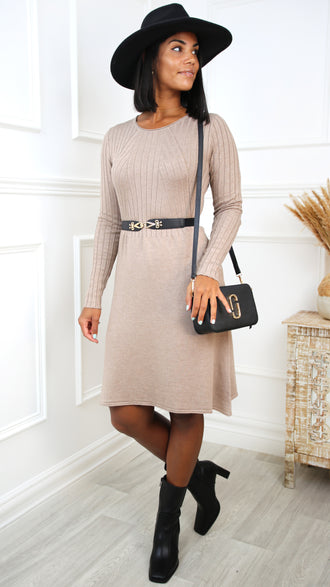 Willow  Black Embellished Bodycon Dress