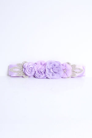 Aida Lilac Flower Belt