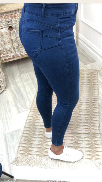 JN Blue High Waist Push Up Jeans