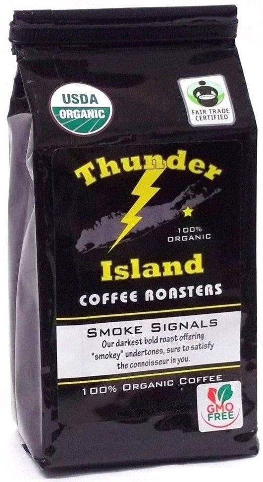 strong organic coffee beans dark French roast fair trade