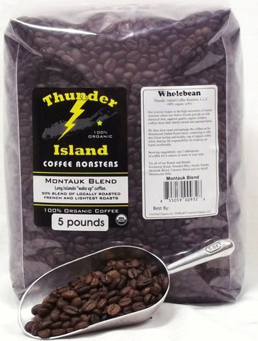 organic coffee beans medium French roast fair trade 5 lb bag