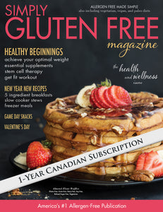 1 year Canadian subscription to Simply Gluten Free