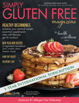 1 year International subscription to Simply Gluten Free