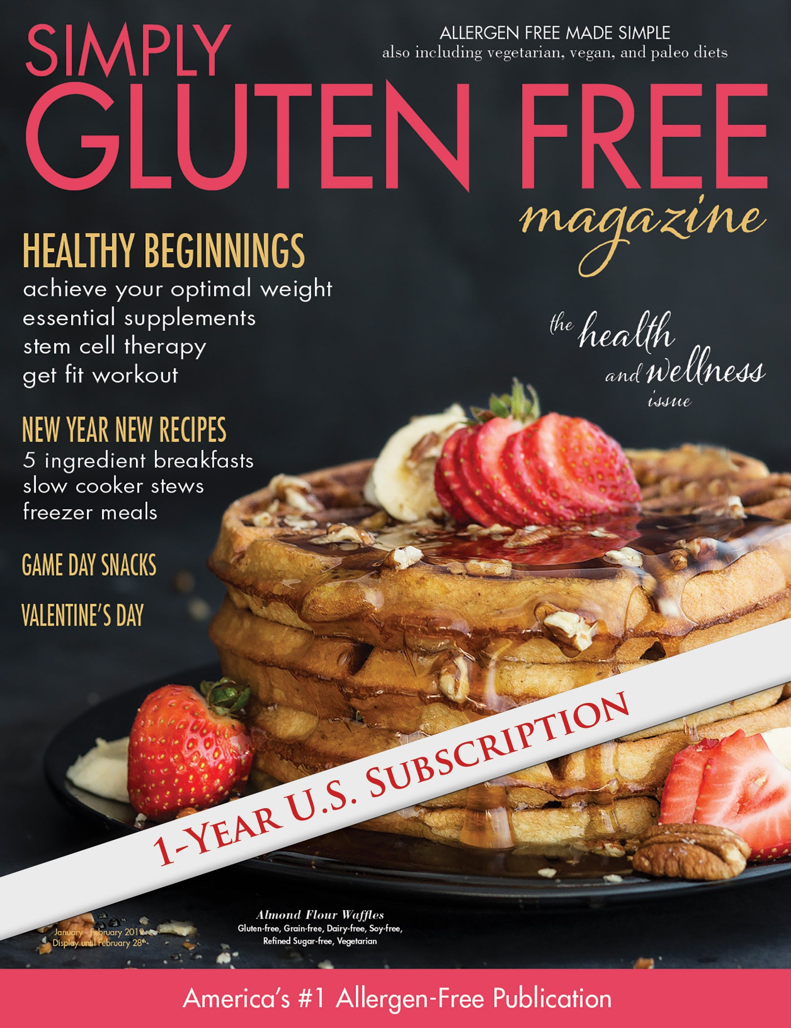 1 year USA subscription to Simply Gluten Free