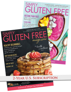 2 year US subscription to Simply Gluten Free