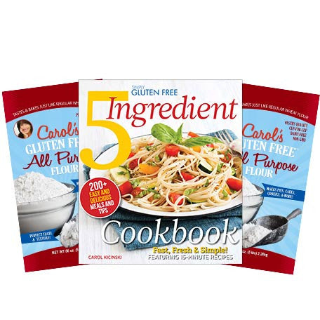 Simply Gluten Free 5 Ingredients Cookbook and 10 lb Flour Special