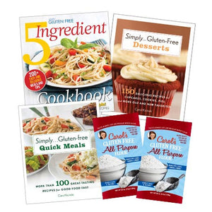 Simply Gluten Free 3 Cookbooks and 10 lb Flour Special