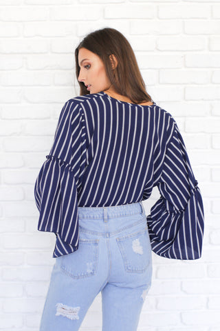 WINTER BLUES STRIPED TOP