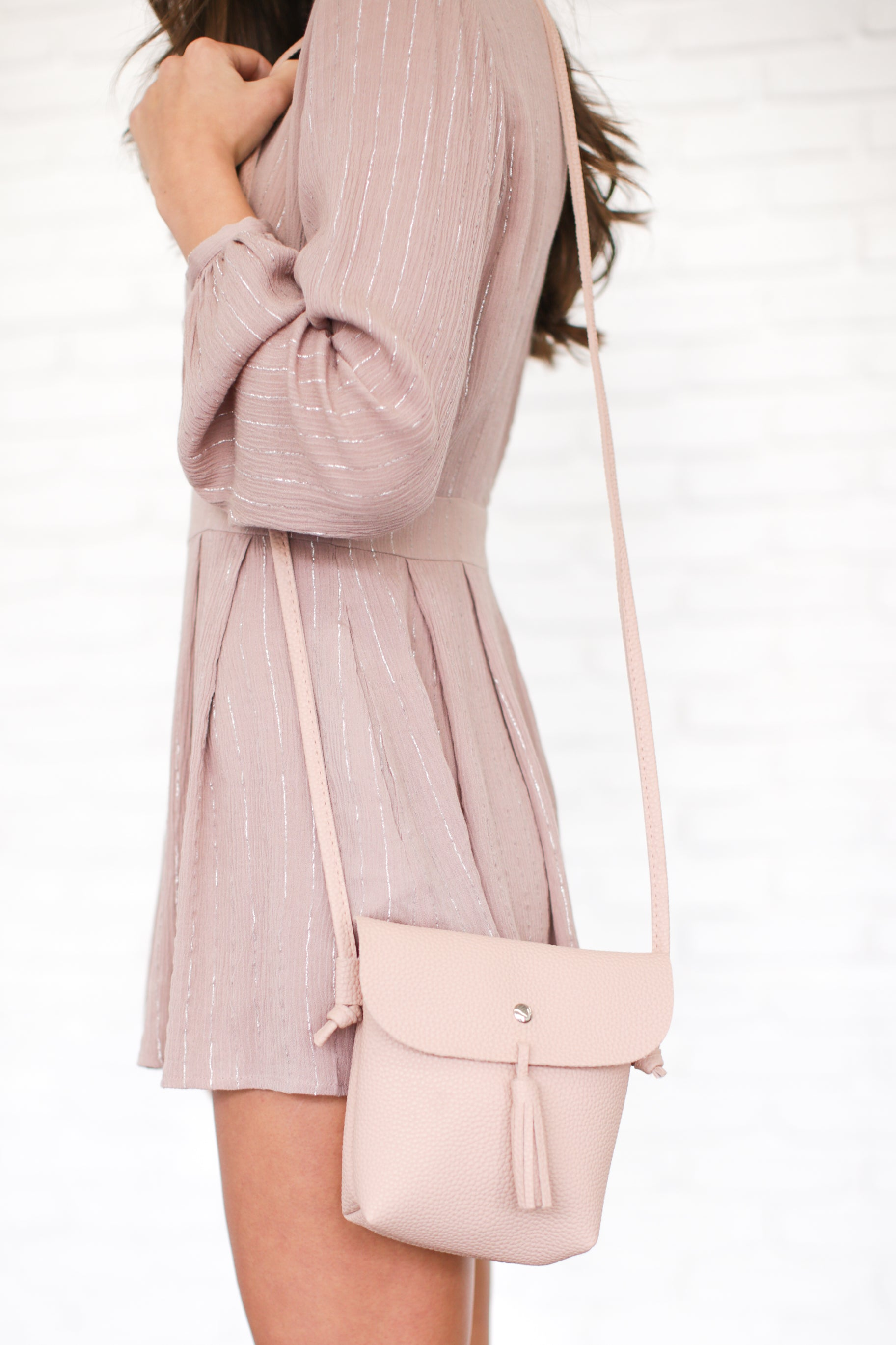 KARISSA BLUSH PINK CROSSBODY BAG