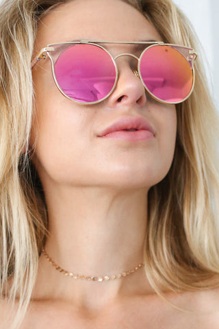 VINTAGE BABE SUNNIES IN BRIGHT PINK