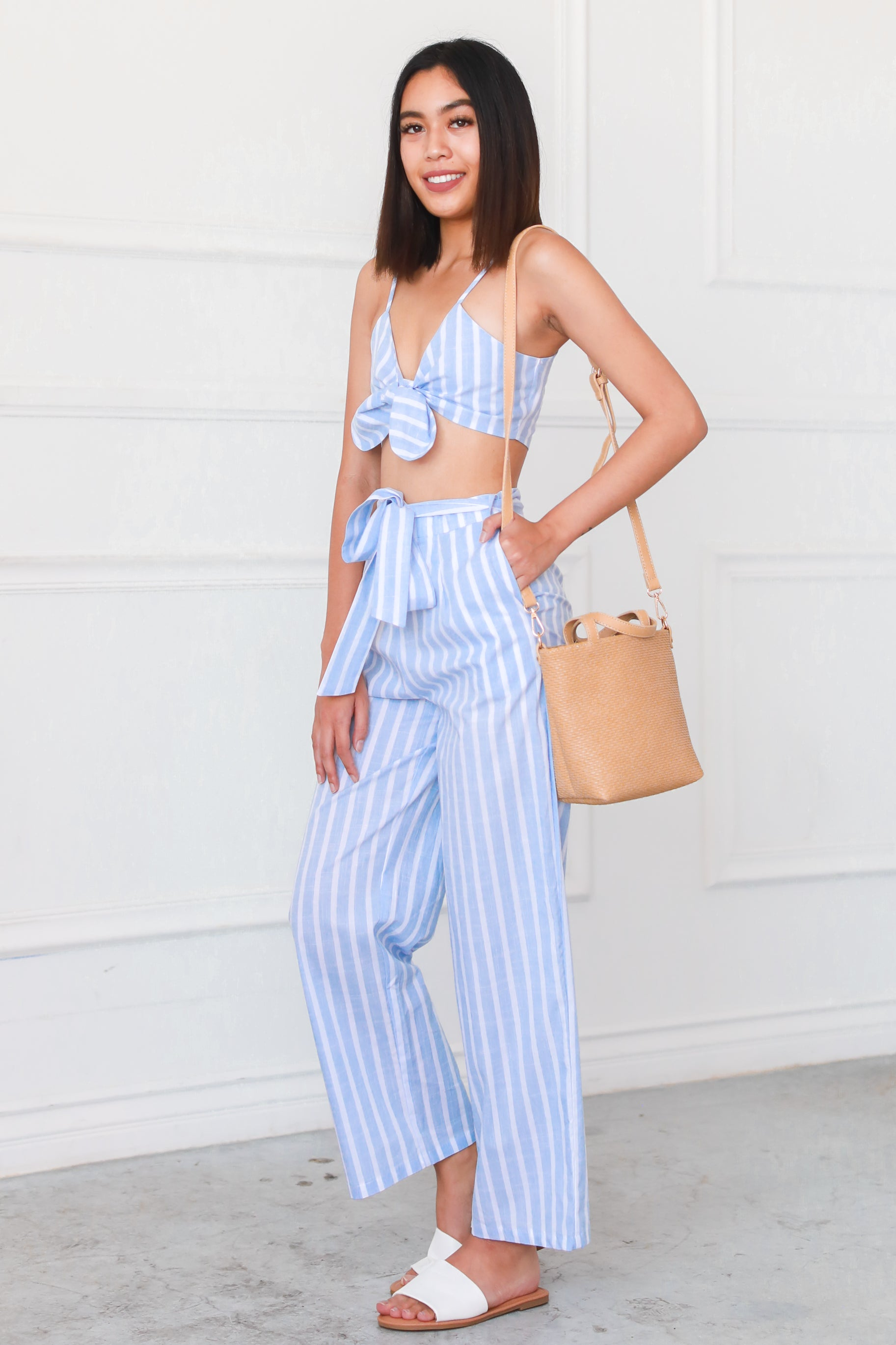 SANTORINI STRIPES TWO PIECE SET