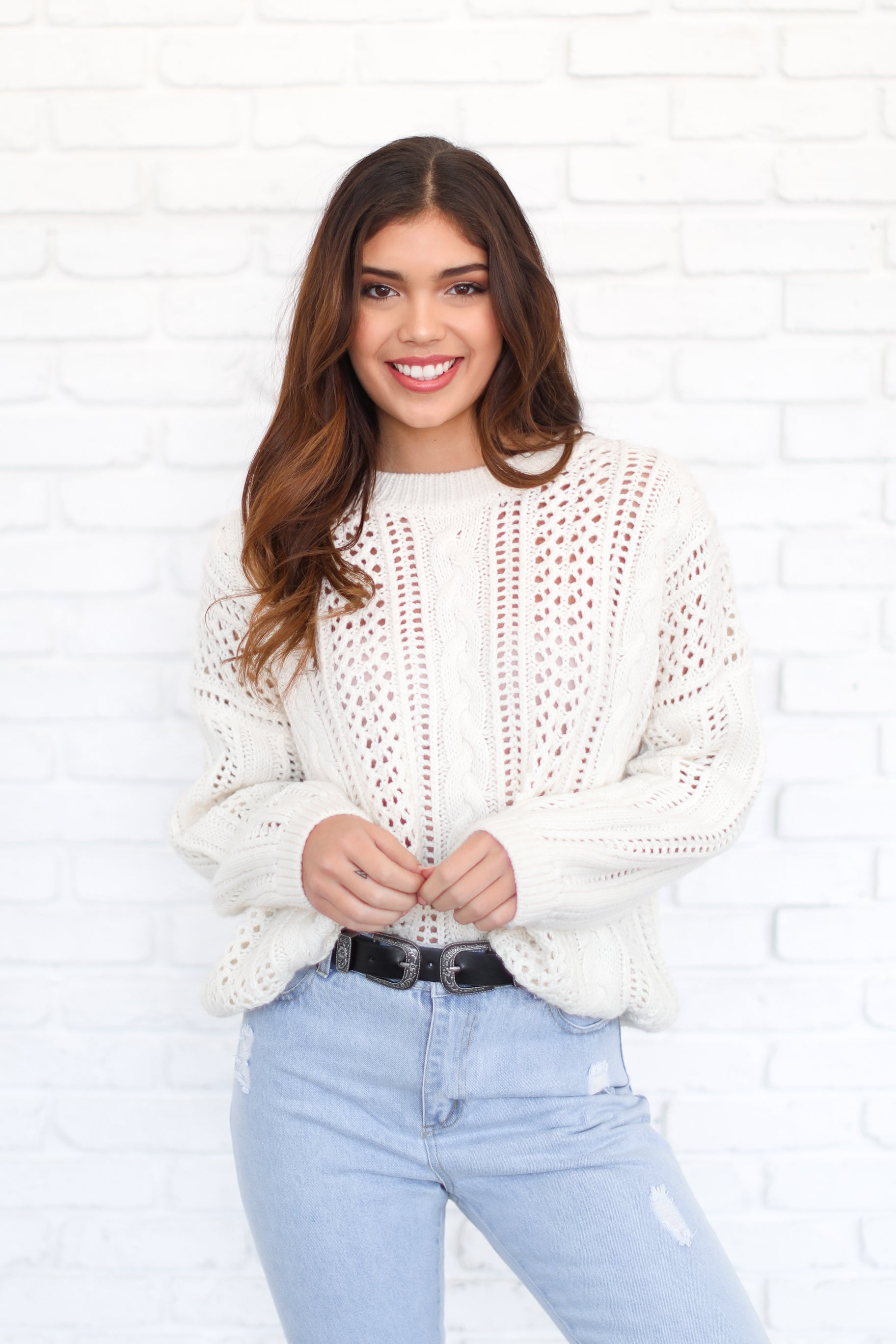 FEELING COZY OVERSIZED KNIT SWEATER