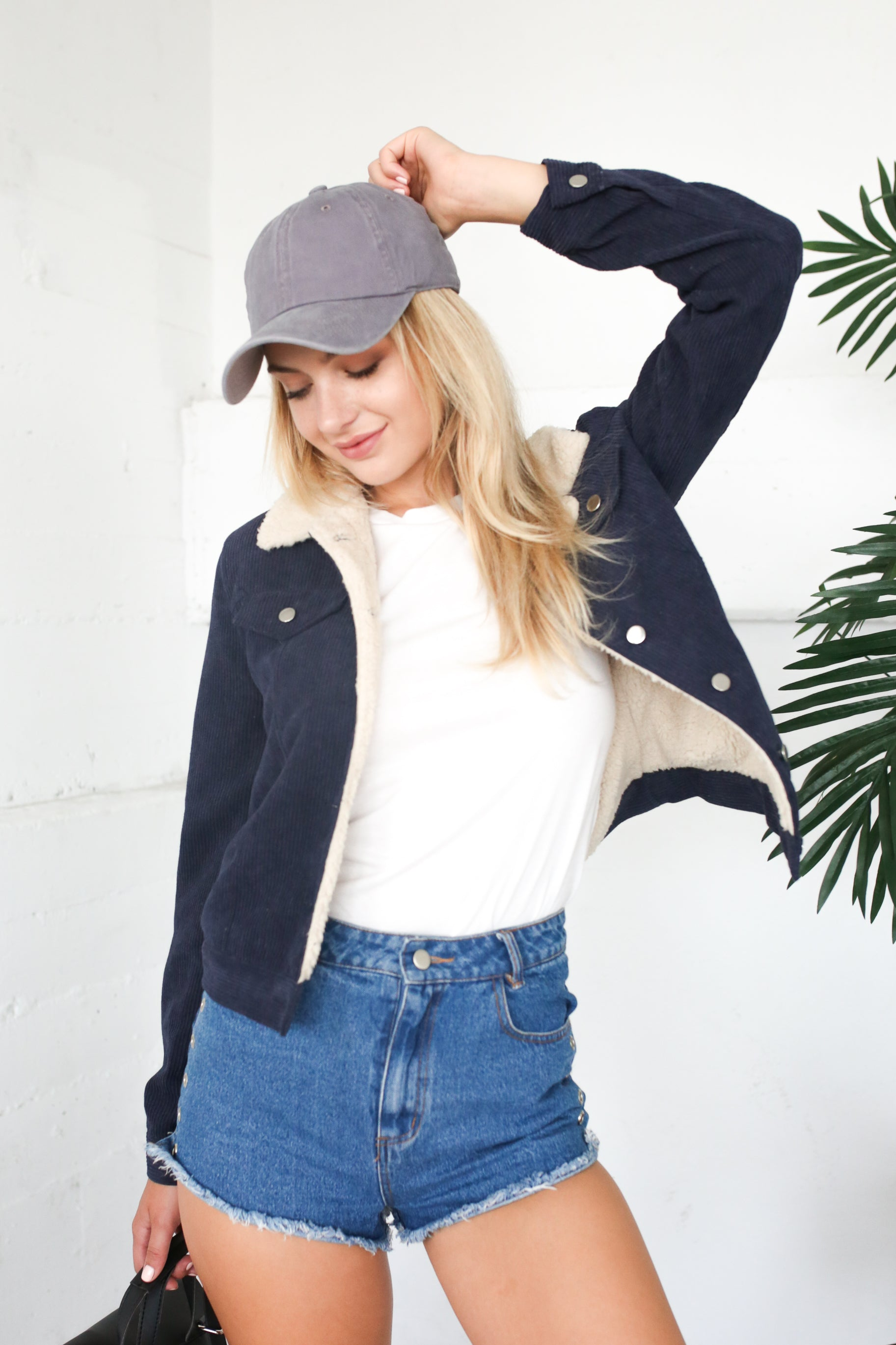 EMA NAVY BLUE CORDUROY JACKET