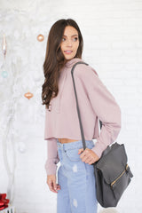 GIGI FRENCH TERRY HOODIE IN BLUSH PINK