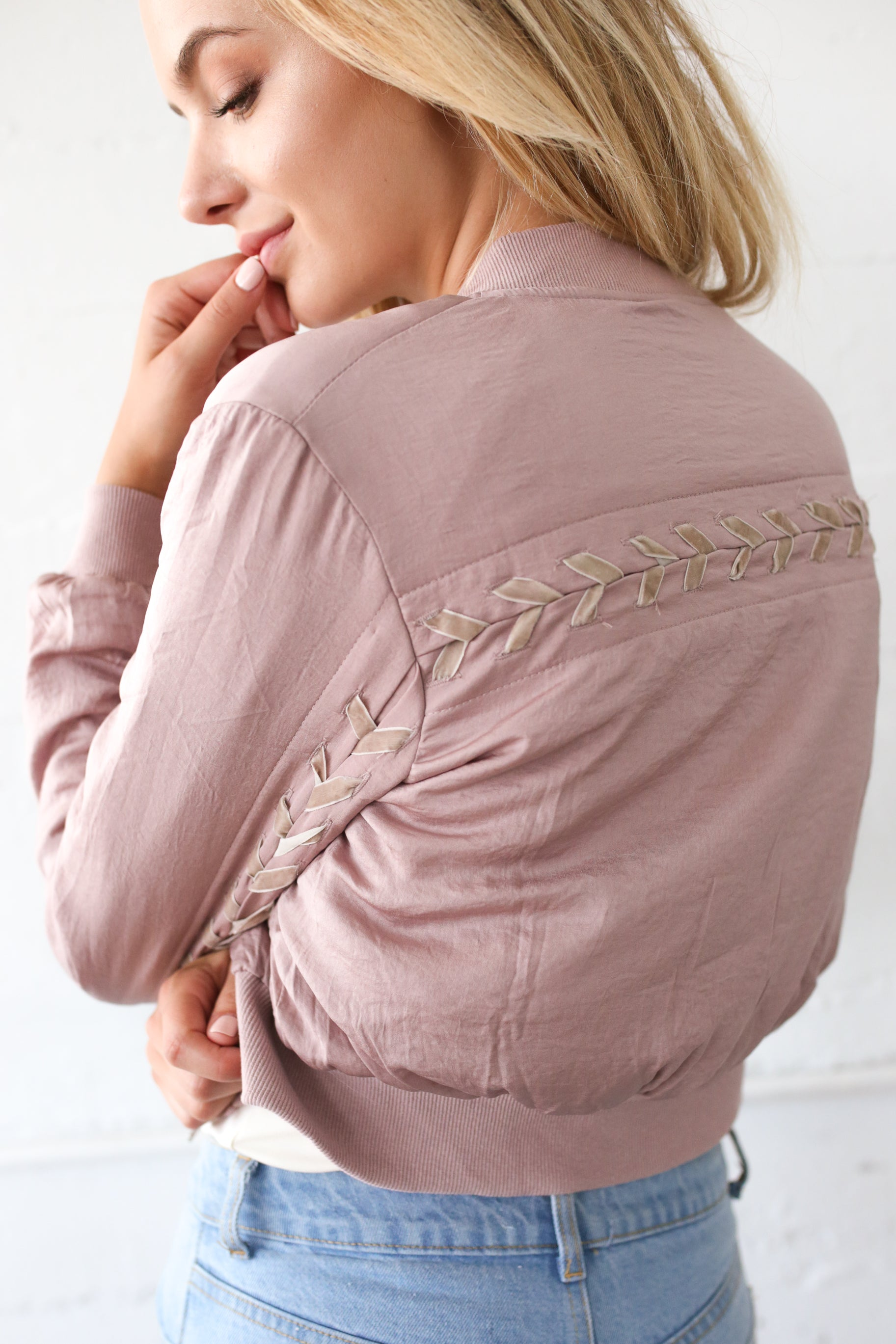 OLLI DUSTY PINK BOMBER