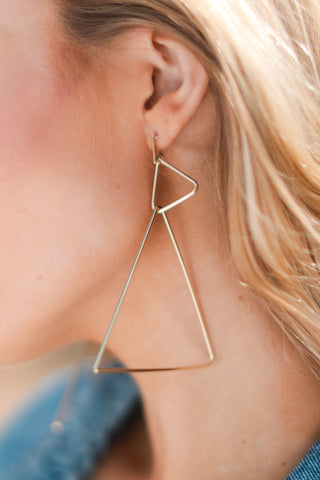 GIZA DOUBLE PYRAMID EARRINGS