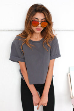CHARCOAL WASHED VINTAGE T