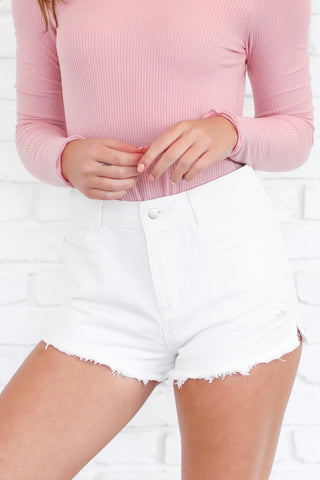 THE PERFECT FIT HIGH WAISTED DENIM SHORTS