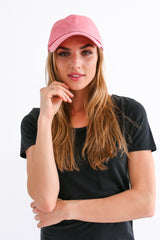Dark Pink Washed Baseball Hat