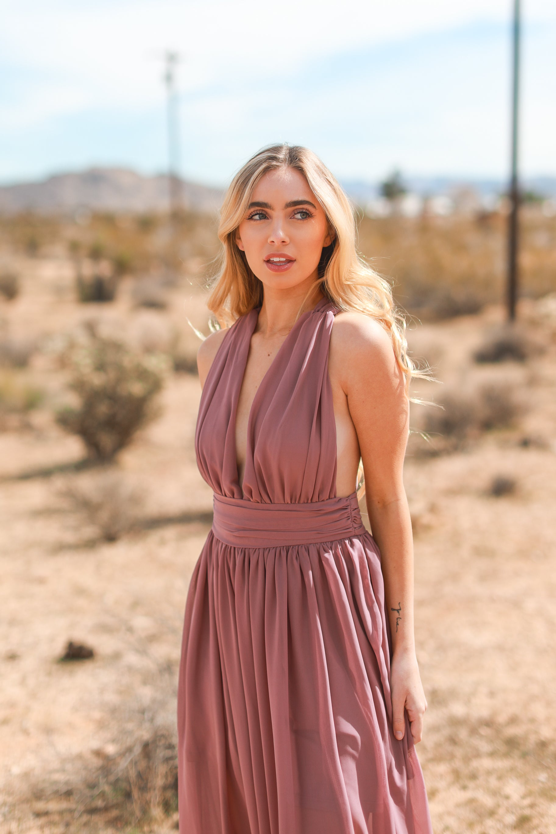 ALYS PLUNGING MAXI DRESS